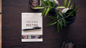 Set table room notepad pen meeting