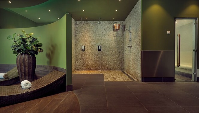 Wellness area shower steambath relaxing